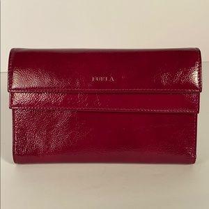Furla fuchsia patent wallet